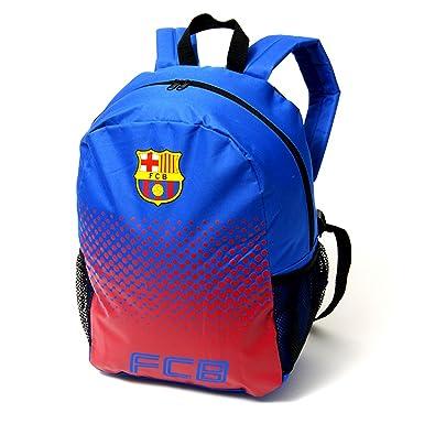 385adbaae14 FC Barcelona Official Fade Football Crest Backpack Rucksack (One Size)  (Blue