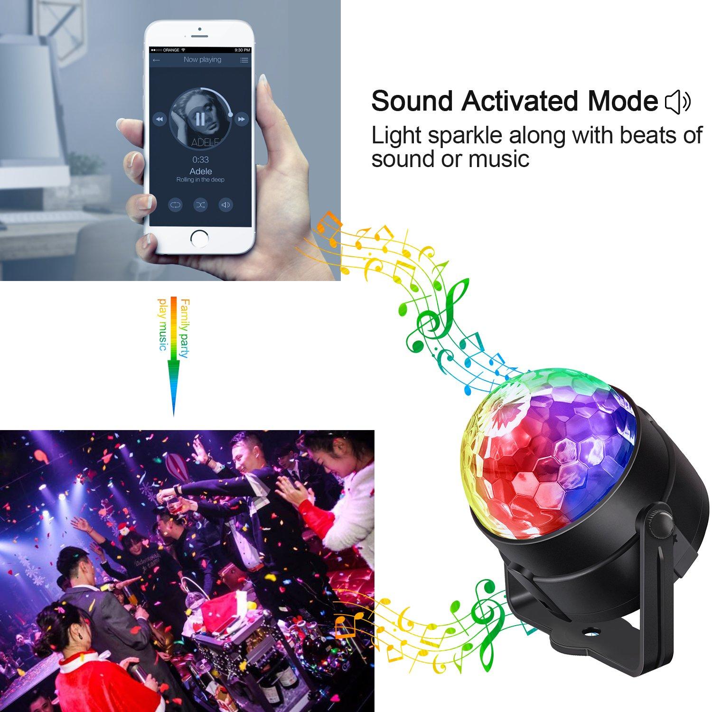 iToncs Boule Disco Lampe de Sc/èn /Éclairage de Discoth/èque 5W mini Projecteur Spot Effet LED Lumi/ère Disco Ball D/éco F/ête Anniversaire Mariage KTV Bar Bal Club