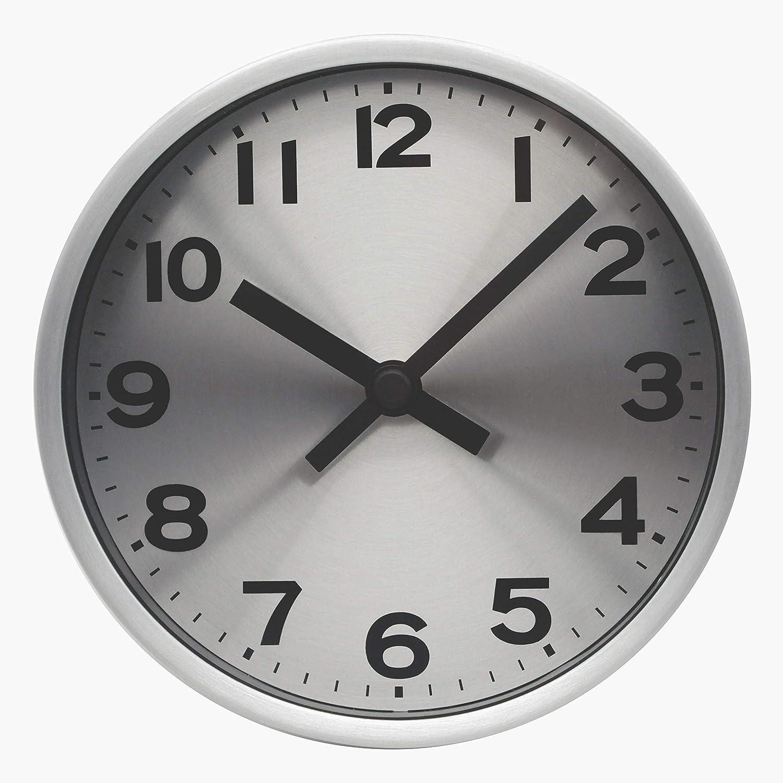 COMODO CASA Wall & Desk Clock- Gold & Silver Frame-Glass Cover-Non Ticking-Quartz Sweep-Silent 6 inch Luxury Clock (Silver)