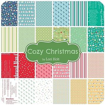 Amazon.com: Lori Holt Cozy Christmas 27 Fat Quarter Bundle Riley ...