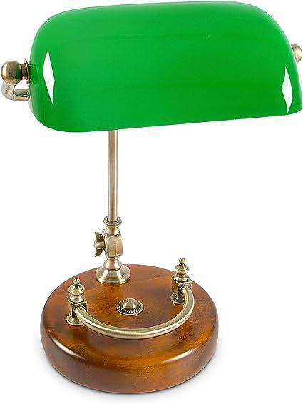 Relaxdays - Lámpara de mesa, 26.5 x 40 cm, E27, lámpara de ...