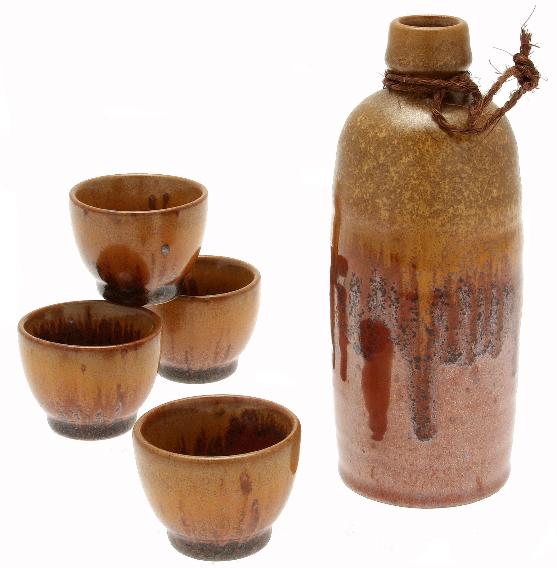 Kotobuki Japanese Sake Set, Tetsuaka ''Glowing Magma'', Red