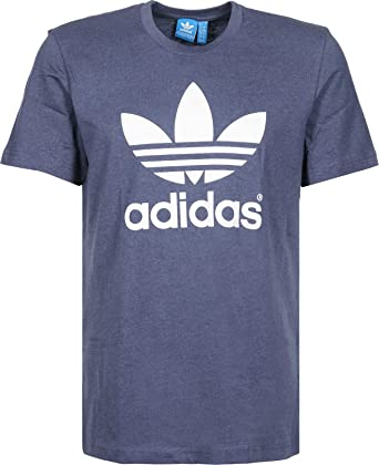 adidas Originals Hombre Logo de trébol T-Shirt Azul Azul Medium ...