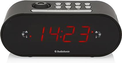 Smartwares CL-1496 – Reloj Despertador con Dos Alarmas, Radio FM ...