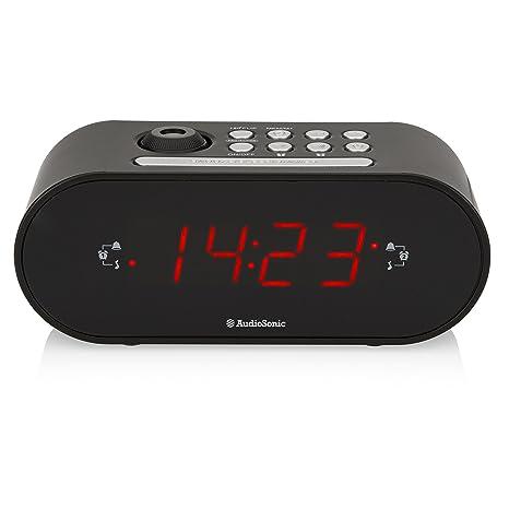 AudioSonic CL-1496 - Radio (Reloj, Digital, FM,PLL, 2