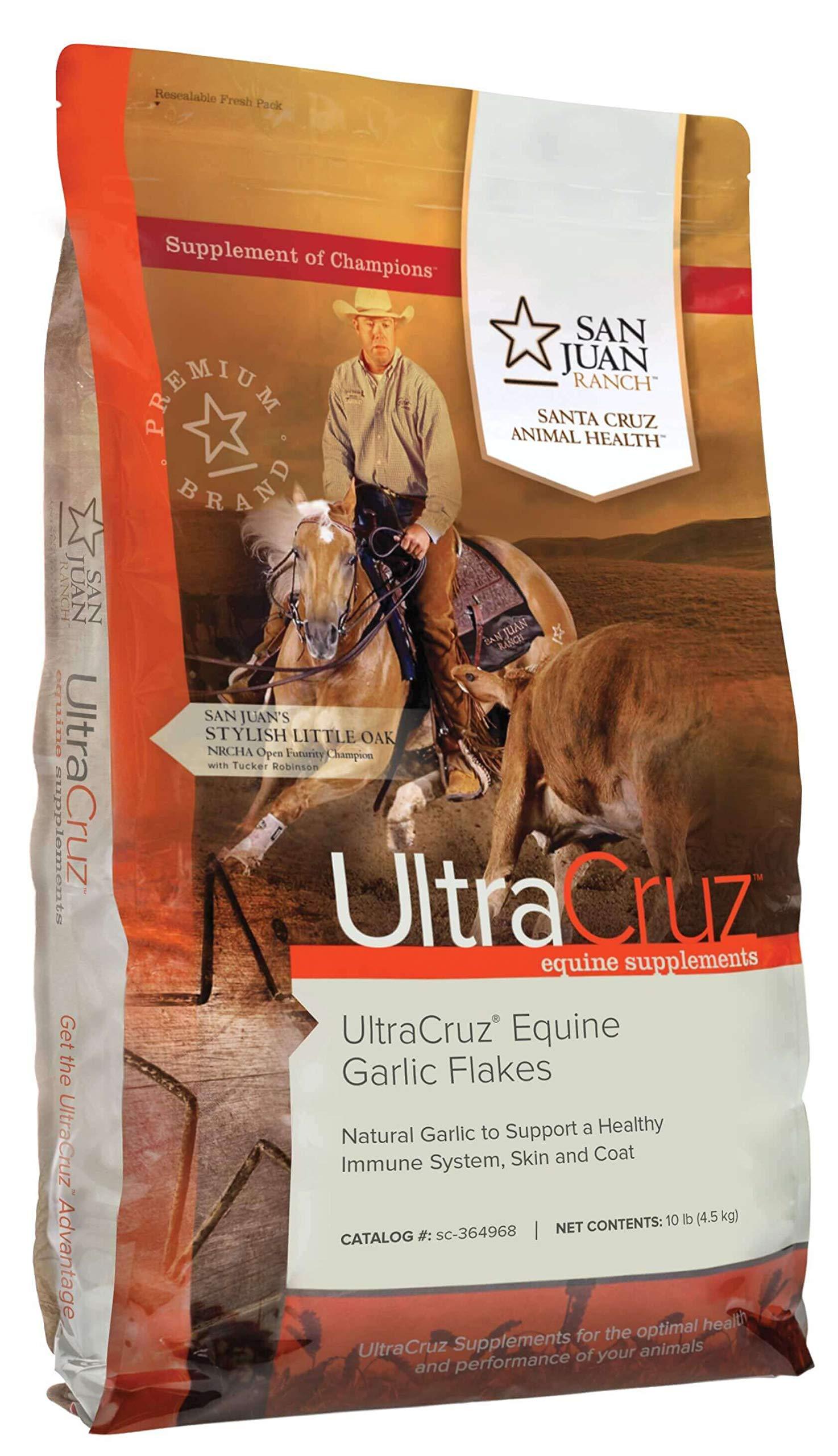 UltraCruz Equine Garlic Flakes Supplement for Horses, 10 lb (450 Day Supply) by UltraCruz