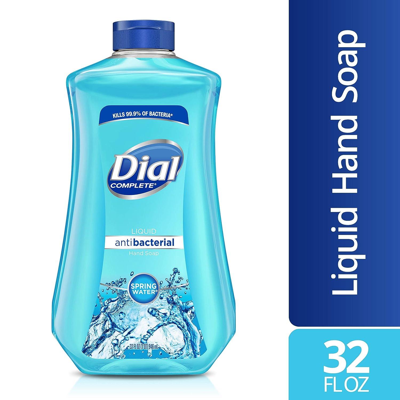 Dial Antibacterial Liquid Hand Soap Refill, Spring Water, 32 Fluid Ounces : Beauty