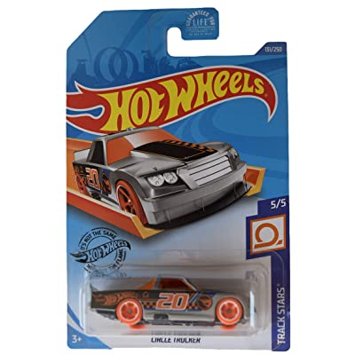 Hot Wheels Track Stars 5/5 Circle Trucker 131/250, Silver/Orange: Toys & Games