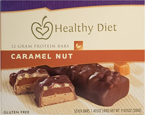 7 Gluten Free Caramel Nut Protein Bar, 1.405oz net wet.280g