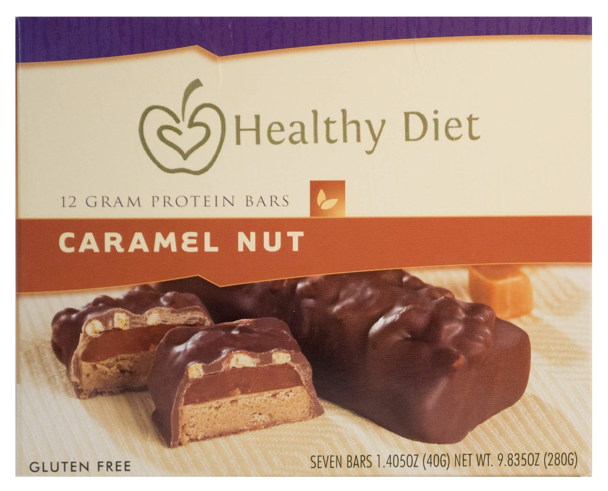 7 Gluten Free Caramel Nut Protein Bar, 1.405oz net wet.280g by HealthWise