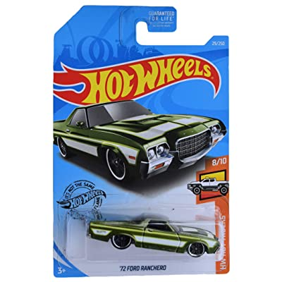 Hot Wheels '72 Ford Ranchero 29/250, Green: Toys & Games