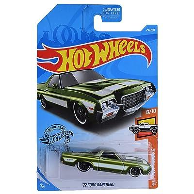Hot Wheels '72 Ford Ranchero 29/250, Green: Toys & Games