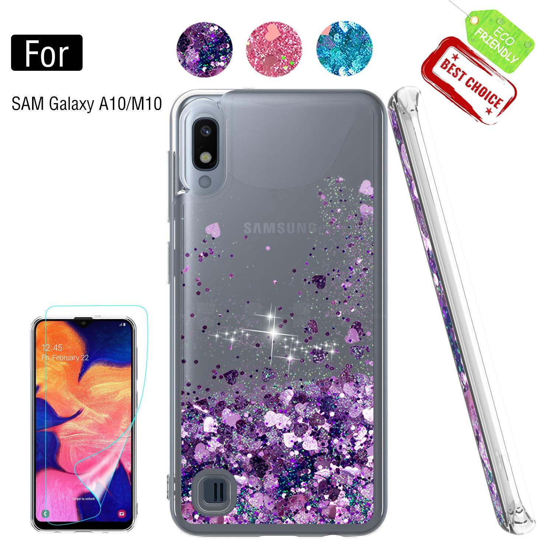 Funda + Vidrio para Samsung Galaxy A10 Glitter ATUMP [7TP4X2GS]