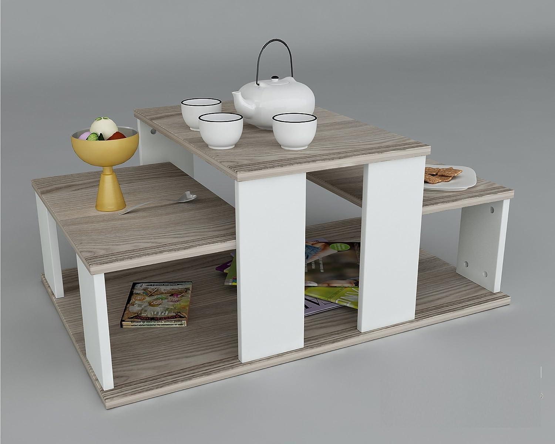 ECHELON Coffee Table - White - Avola - Living room table in modern design by Homidea