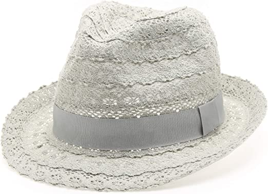 Mens Womens Ladies Fedora Festival Summer Travel Packable Foldable Trilby Hat
