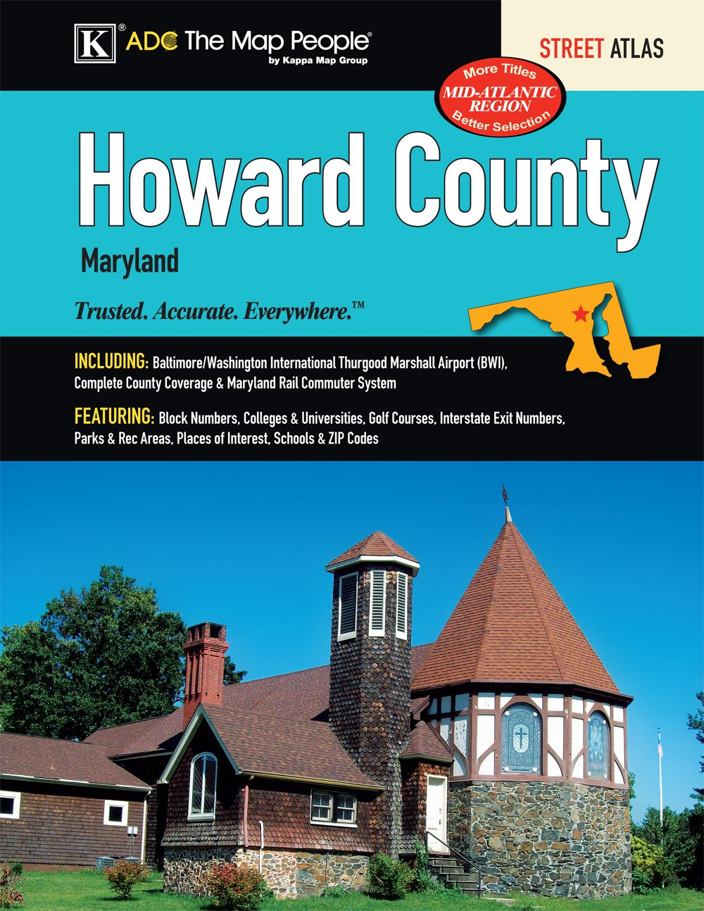 Howard County Md Zip Code Map.Howard County Md Street Atlas Kappa Map Group 9780762580200