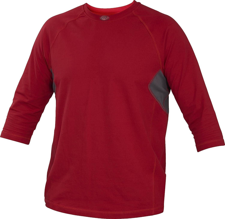 Rawlingsスポーツ用品大人用3/ 4スリーブパフォーマンスシャツ B013I2ENWW B013I2ENWW Large|スカーレット/ スカーレット スカーレット Large, ミナミダイトウソン:08c33be8 --- kutter.pl