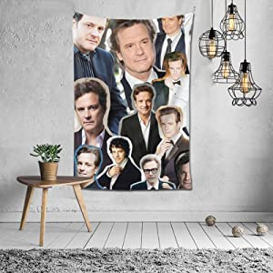 Colin Firth Tapestry Wall Hanging Tapestries beach tapestry for Living Room Bedroom Dorm Room Decor Blanket 60X40 inch