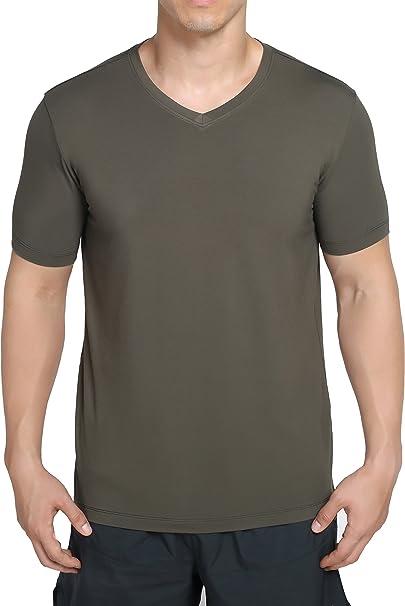 Men/'s Soft Quality Bamboo Fiber Round Neck T-Shirt Undershirts Top Plus Size Hot