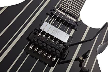 Amazon.com: Schecter 6 String SYNYSTER GATES CUSTOM-S Black/Silver 1741: Musical Instruments
