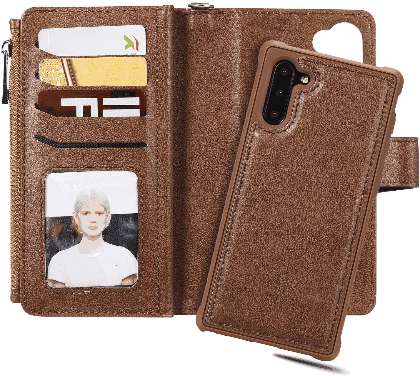 Cover for Leather Wallet case Card Holders Extra-Shockproof Business Kickstand Flip Cover LQinuan Samsung Galaxy S9 Flip Case
