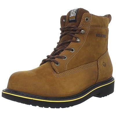 "Wolverine Men's Men's Foster - DuraShocks Steel-Toe EH 6"" Work Boot (9.5 EW in Brown)   Boots"
