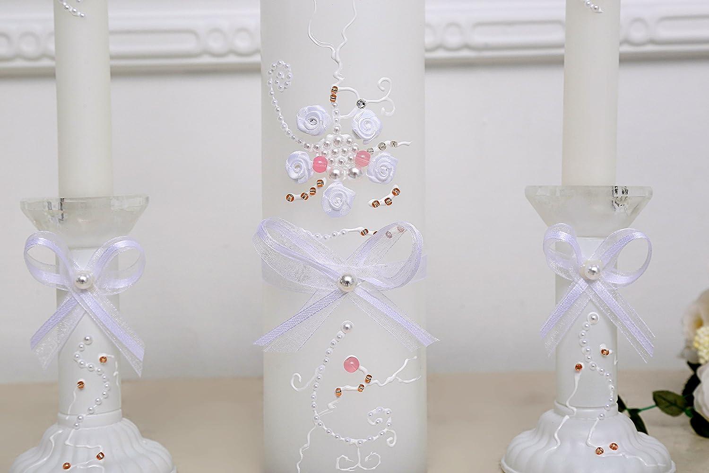 Mr Mrs Wedding Candles Set Rustic Wedding Ceremony Accessories Unity Candle Set Custom Wedding Unity Candle Set with Wood Candles Holders