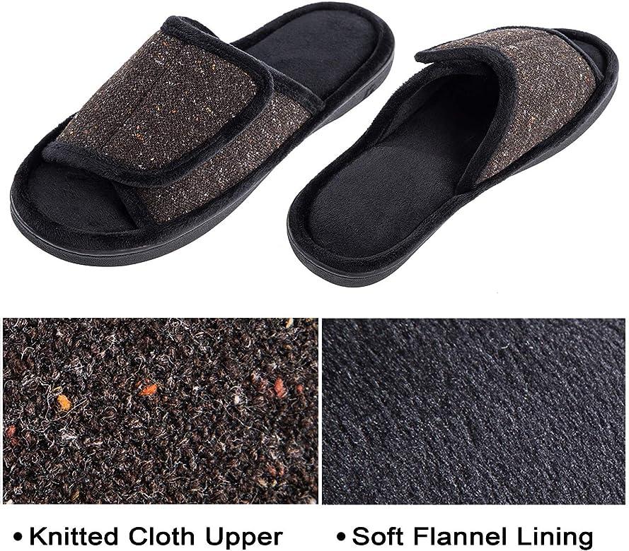 DL Adjustable-Mens-Slippers-Memory-Foam