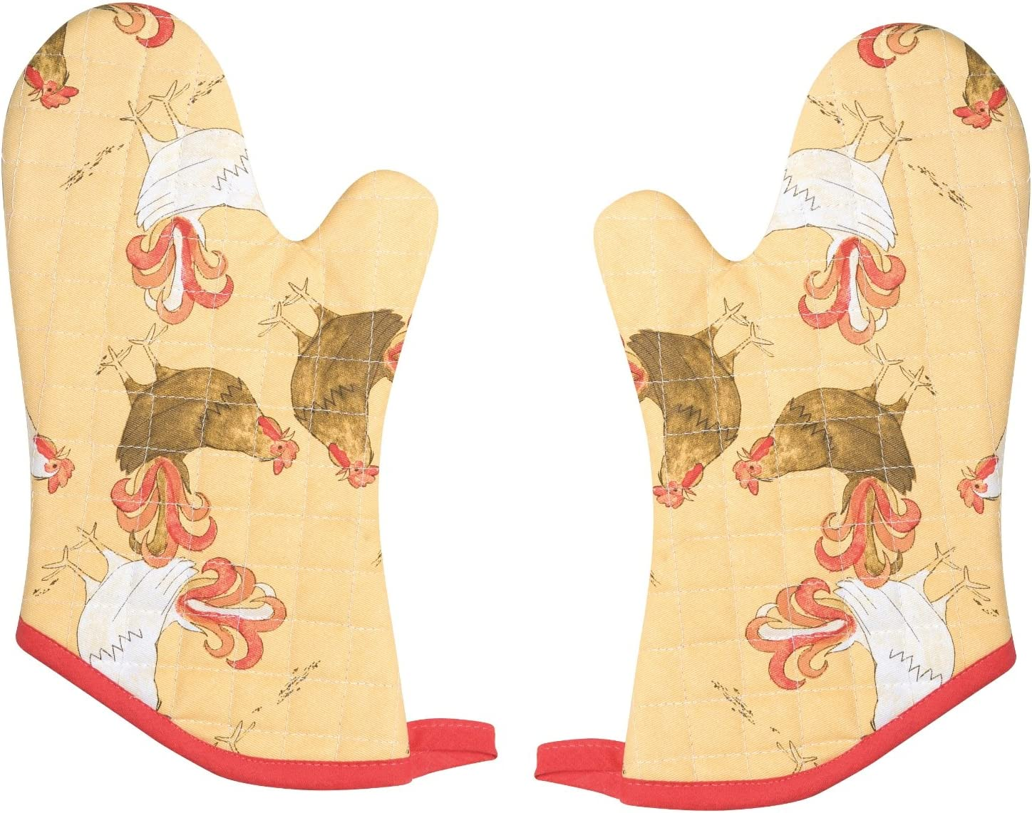 Now Designs Basic Oven Mitt, Rise and Shine, Set of 2