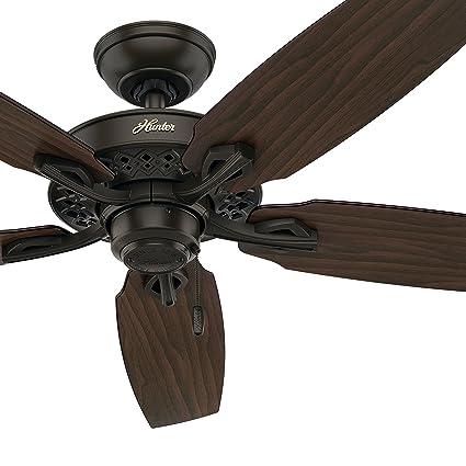 Hunter fan 52 traditional ceiling fan without light kit in new hunter fan 52quot traditional ceiling fan without light kit in new bronze certified refurbished aloadofball Gallery