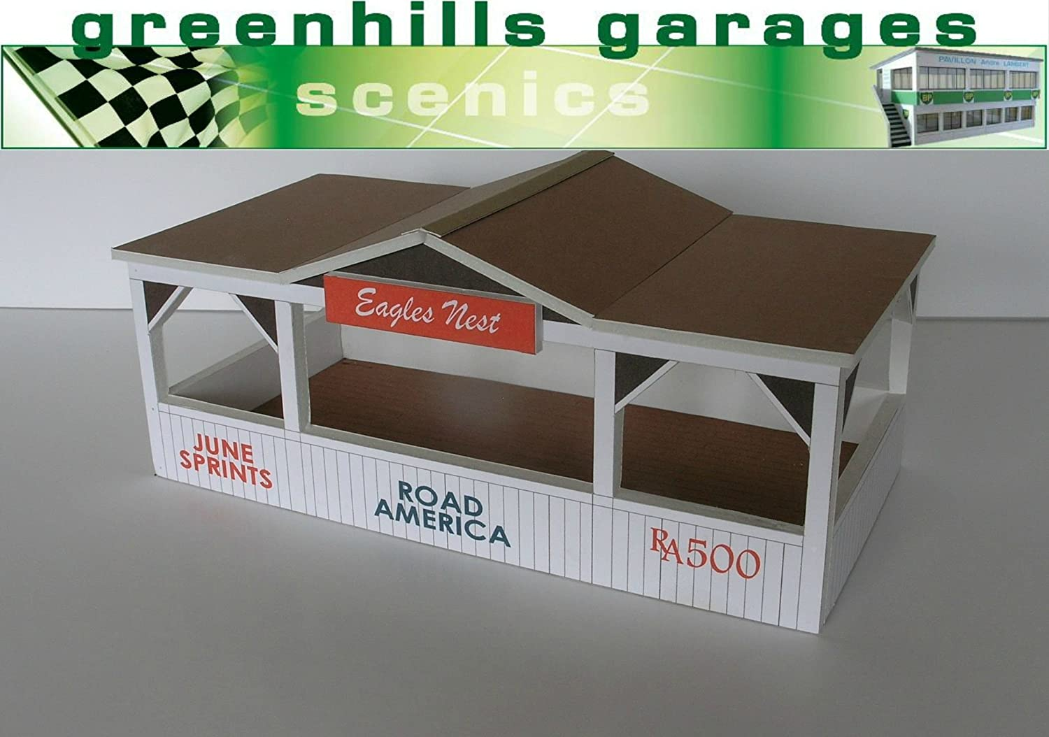 Greenhills Scalextric Slot Car Building Road America Pagoda Eagles Nest Kit 1...