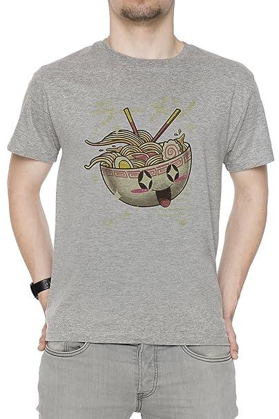 Erido Kawaii Ramen Hombre Camiseta Cuello Redondo Gris Manga Corta Todos Los Tamaños Mens Grey All Sizes: Amazon.es: Ropa y accesorios