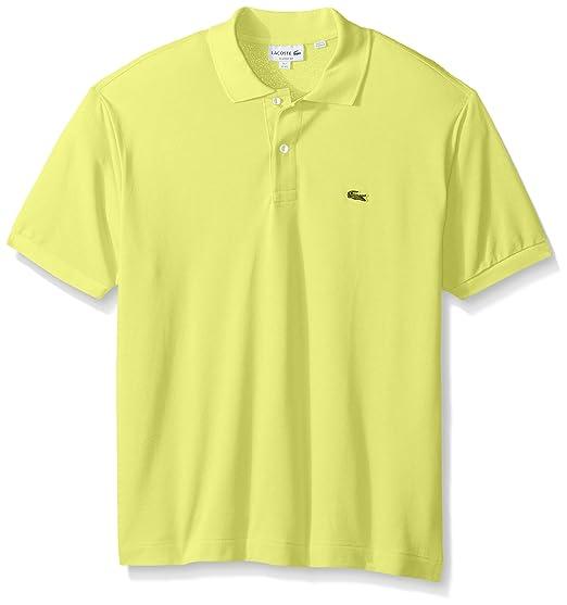 d7ebbd4a1a48 Lacoste Men s Short Sleeve Pique L.12.12 Classic Fit Polo Shirt, Past  Season,