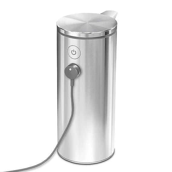 simplehuman Sensorspender Wiederaufladbar ST1043 0.266 l, Silber portavelas - Portavelas (Silber, 1 mm): Amazon.es: Hogar