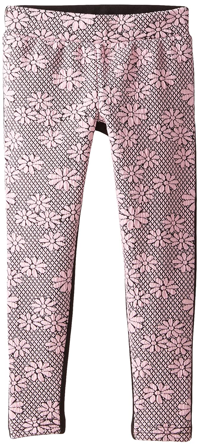 Dream Star Girls Little Floral Jacquard Legging Solid Back Dream Star 2-6x 18213