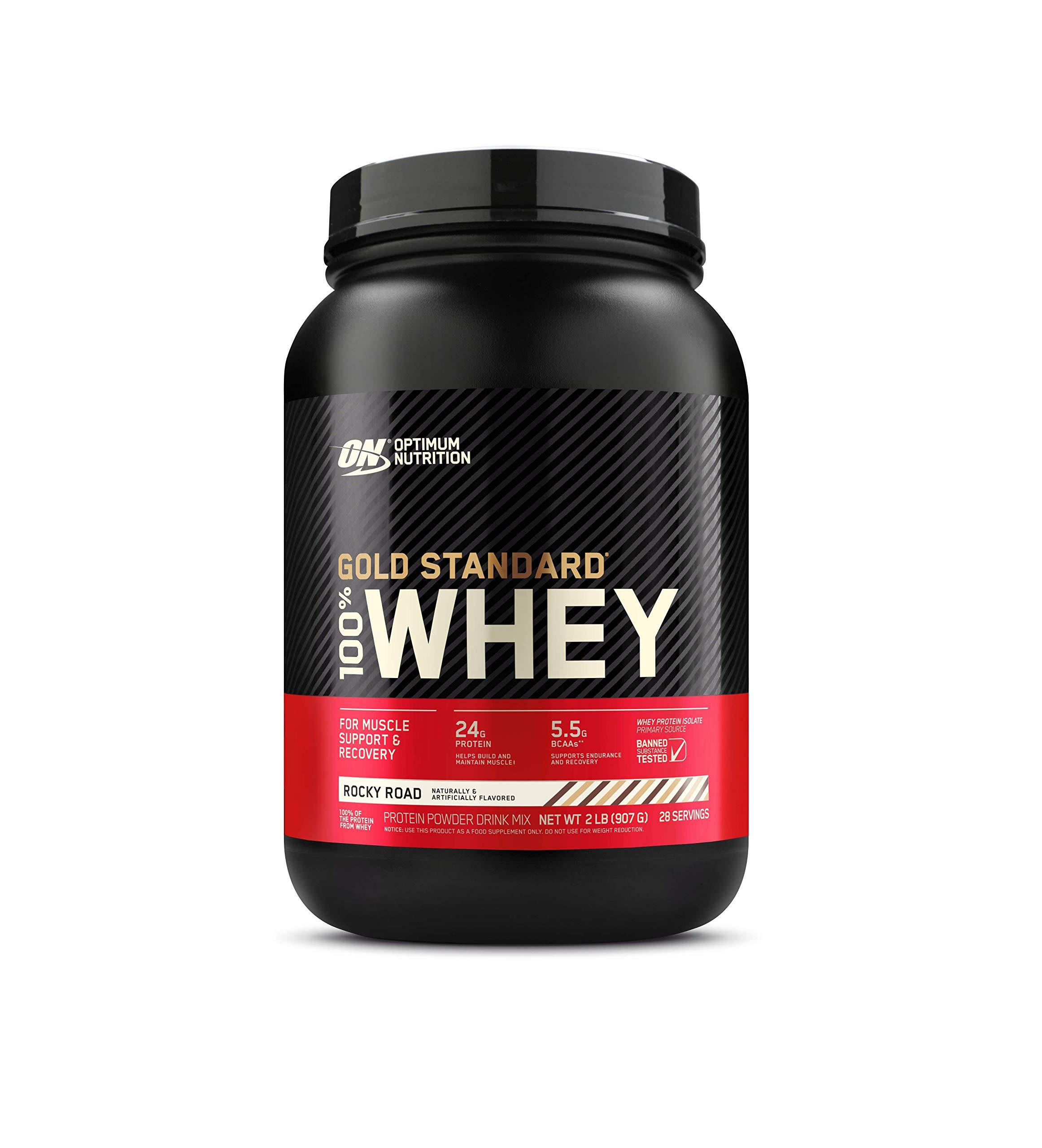 Optimum Nutrition Gold Standard 100% Whey Protein Powder, Rocky Road, 5 Pound (Packaging May Vary)