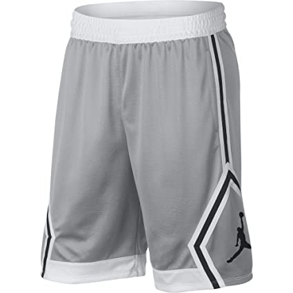 379dd15705624 Image Unavailable. Image not available for. Color  Nike Mens Jordan Rise  Diamond Basketball Shorts Wolf Grey White 887438-012 Size Small