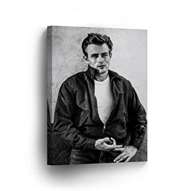 d33cd4303d SmileArtDesign James Dean from Rebel Without a Cause Movie Black White Wall  Art Canvas Print American