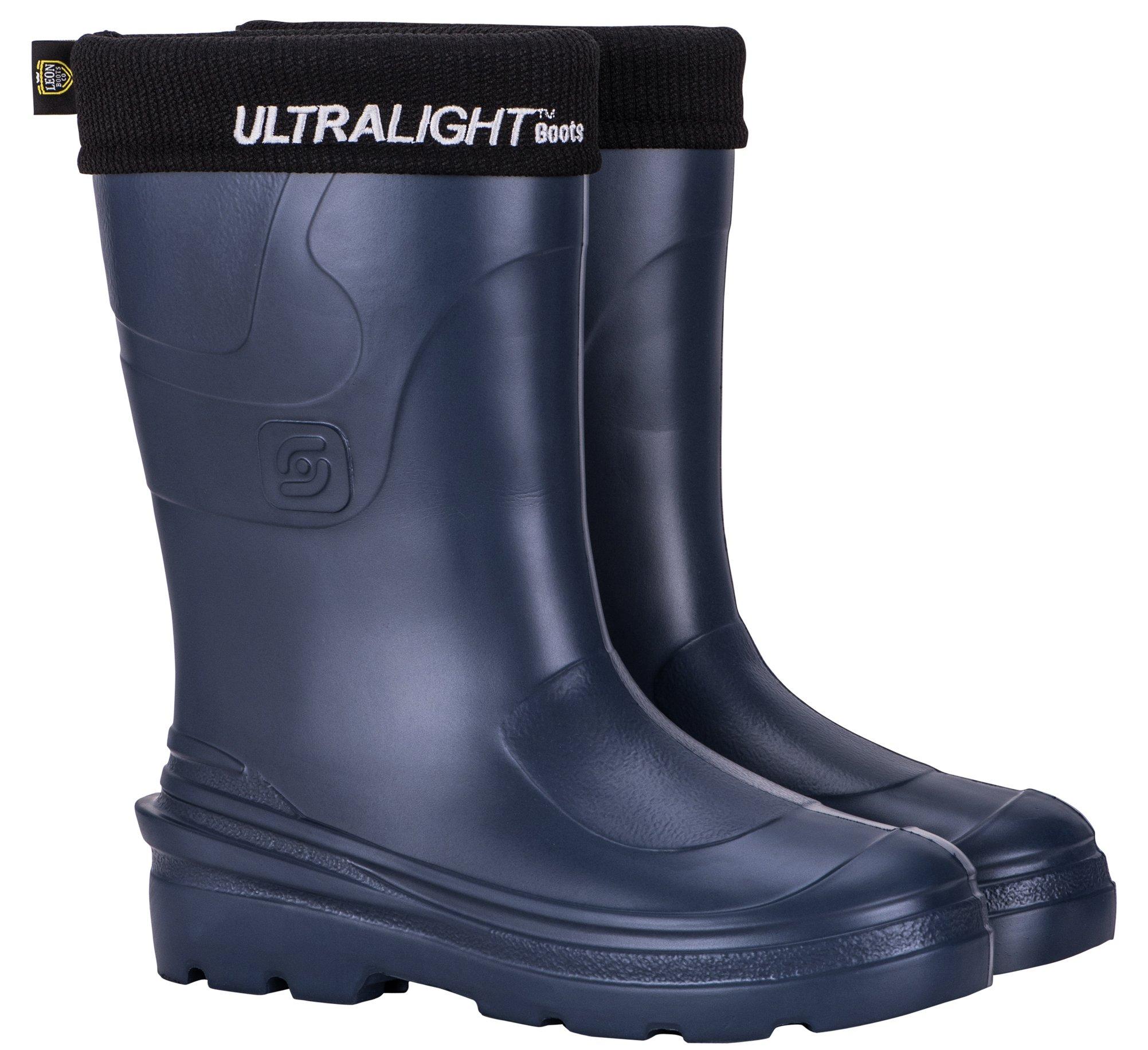 Leon Boots Super Ultralight Women's Montana Waterproof Rain and Garden Boots, Size US 7-1/2, EU 38, Navy