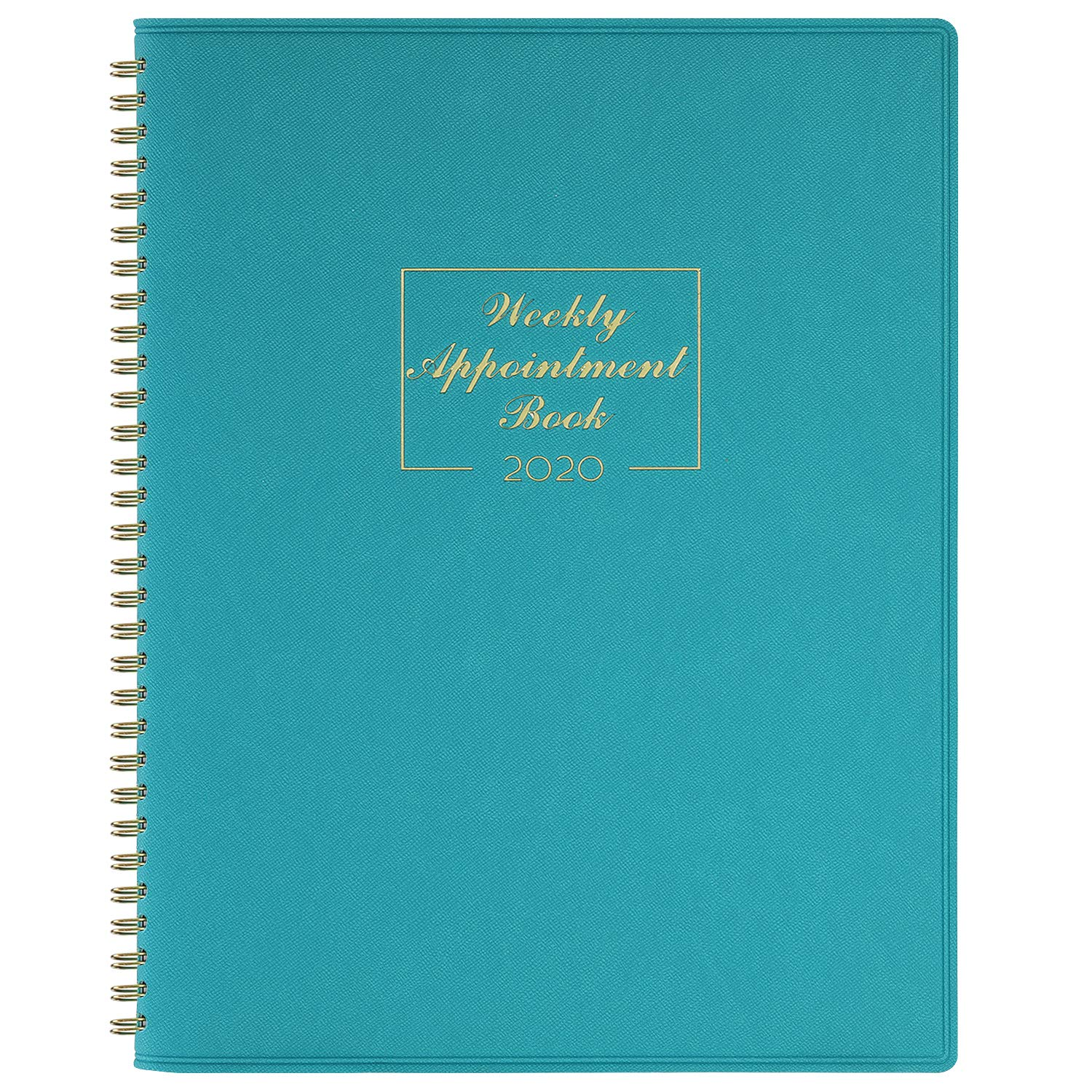 2020-2021 Weekly Appointment Book & Planner – 2020-2021 Daily Hourly Planner 8.4″ x 10.6″, Jul 2020 – Jun 2021, 15-Minute Interval, Flexible Soft Cover, Twin-Wire Binding, Lay – Flat, Turquoise
