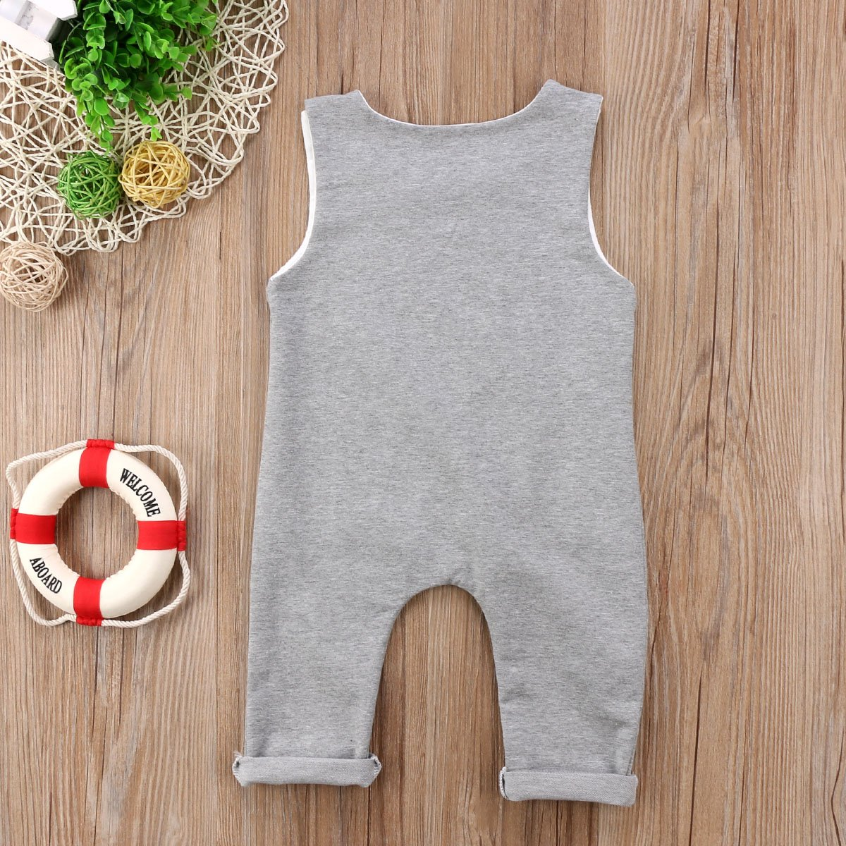 48494fc4e Amazon.com: Newborn Infant Baby Boys Sleeveless Harem Romper Jumpsuit  Outfits Overall Clothes One-Piece Bodysuit: Clothing