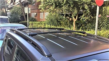 HippoBar Verrouillable /& A/érodynamique Barres De Toit Barres Transversales pour Citroen C4 Cactus 2014 Present Anodis/é Noir