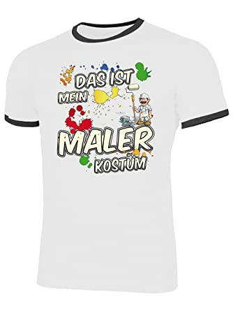 Faschingskostüm DAS IST MEIN MALER KOSTÜM T-Shirt Damen S-XXL Karnevals