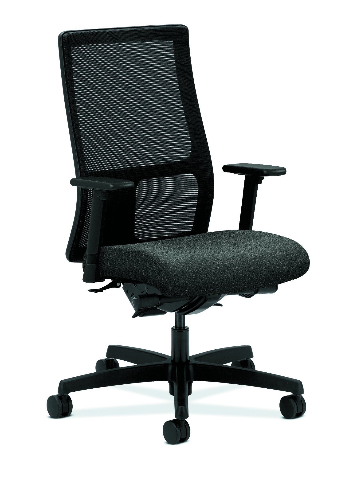 HON Ignition Series Mid-Back Work Chair - Mesh Computer Chair for Office Desk, Gray (HIWM3)