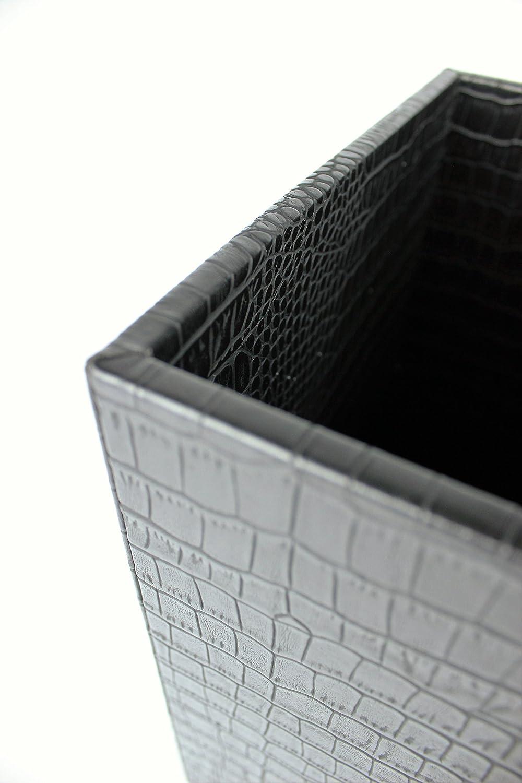 beige 22 x 22 x 28 cm Kunstleder SIGNATURE HOME COLLECTION Papierkorb