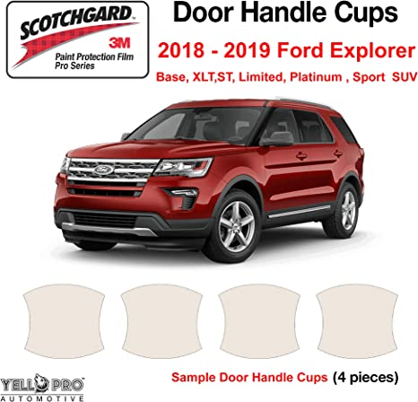 YelloPro Custom Fit Door Handle Cup 3M Scotchgard Anti Scratch Clear Bra Paint Protector Film Cover Self Healing PPF Guard Kit for 2020 Ford Explorer XLT Platinum SUV Limited ST