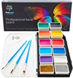 Face Paint Kit – Dermatologically Tested – Non-Toxic & Hypoallergenic – Professional Face Painting Kit for Kids & Adults…