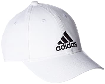 703f6448 Adidas Women's Six-Panel Cotton Cap, White/Black, One Size: Amazon.ae