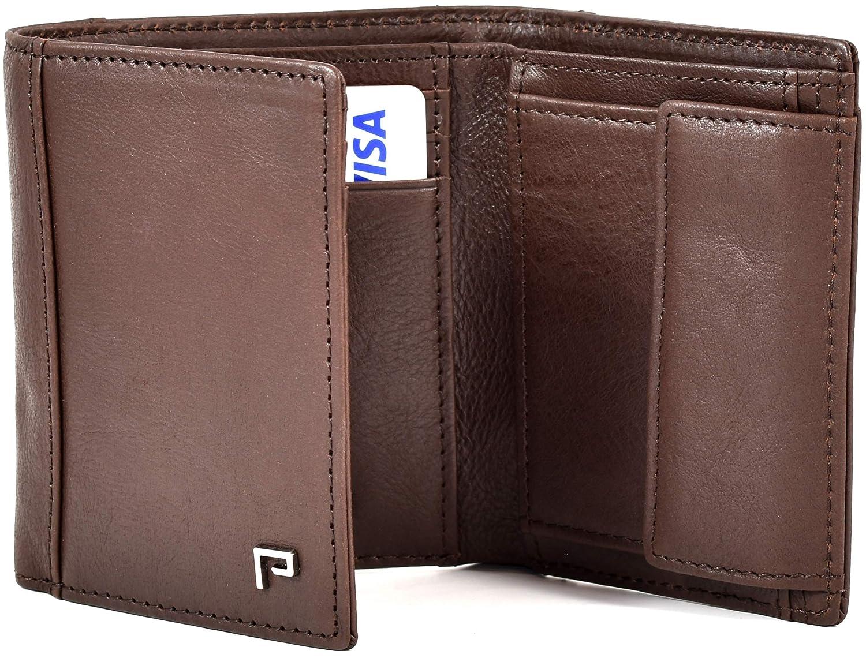 Cartera de Piel para Hombre | Tarjetero y Billetero | RFID Bloqueo | con Bolsillo para Monedas [marrón Vintage]: Amazon.es: Equipaje