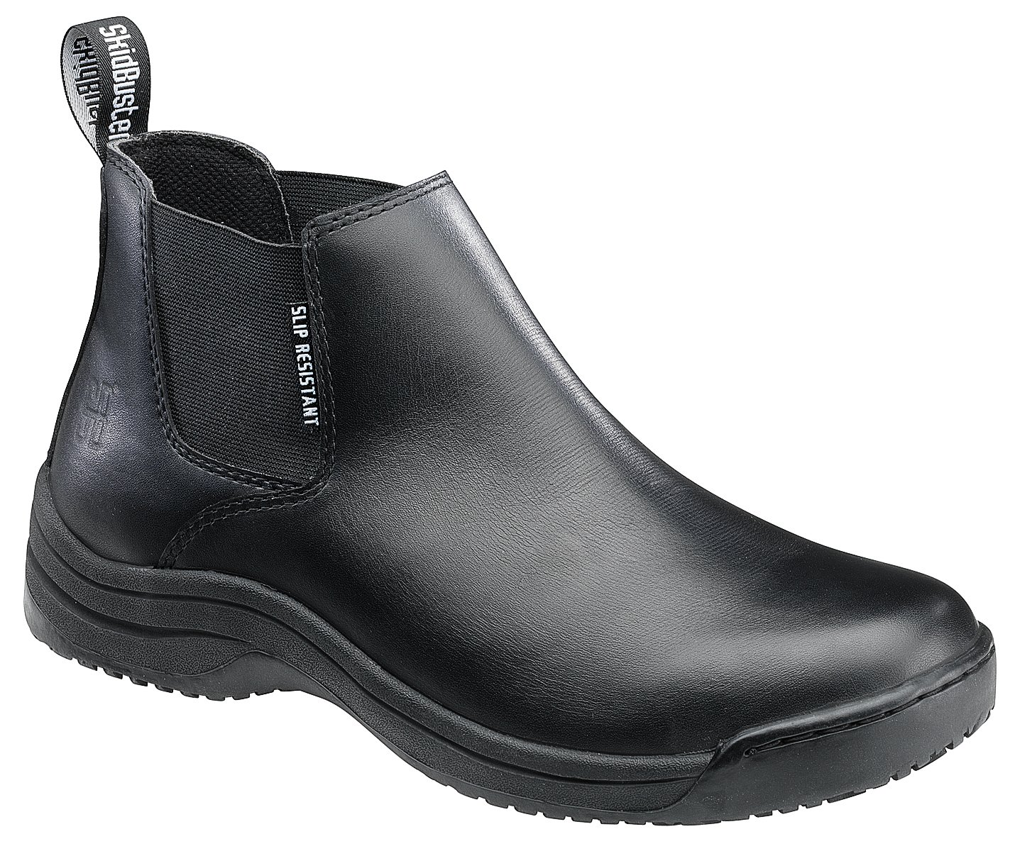 Skidbuster 5073 Men's Leather Slip Resistant Romeo,Black,12 W US